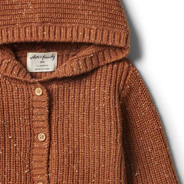 Toasted Pecan Rib Knitted Jacket