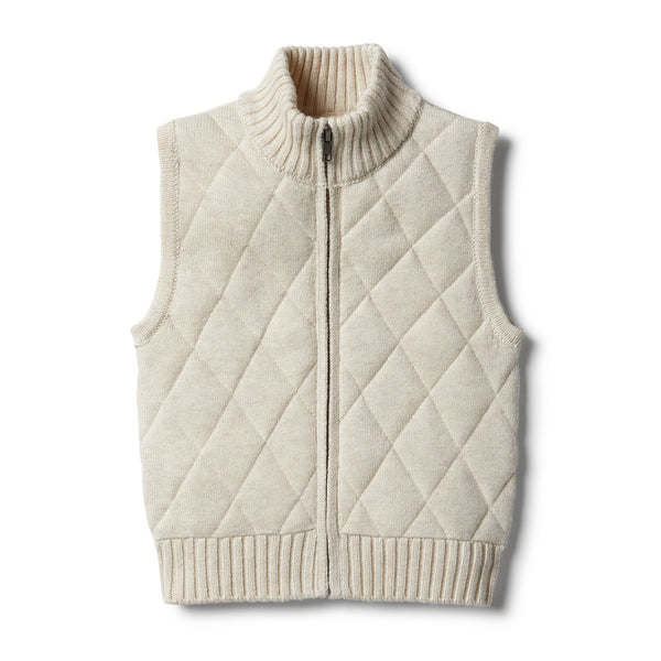 Oatmeal Knitted Vest