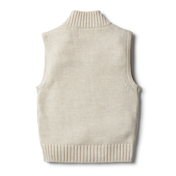 Oatmeal Knitted Vest - Wilson and Frenchy