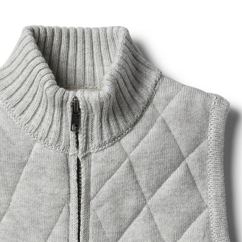 Cloud Grey Knitted Vest