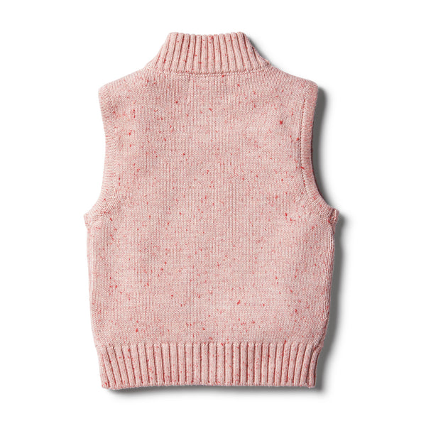 Chilli Fleck Knitted Vest - Wilson and Frenchy