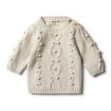 Oatmeal Knitted Jumper With Baubles - Wilson and Frenchy