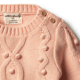 Tropical Peach Knitted Jumper with Baubles