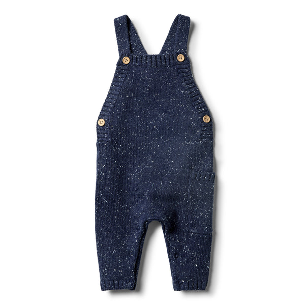 Twilight Blue Knitted Overall - Wilson and Frenchy