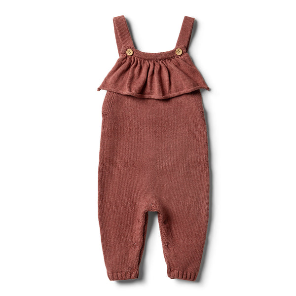 Chilli Marle Knitted Ruffle Overall - Wilson and Frenchy