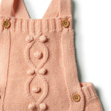Tropical Peach Knitted Overall With Baubles