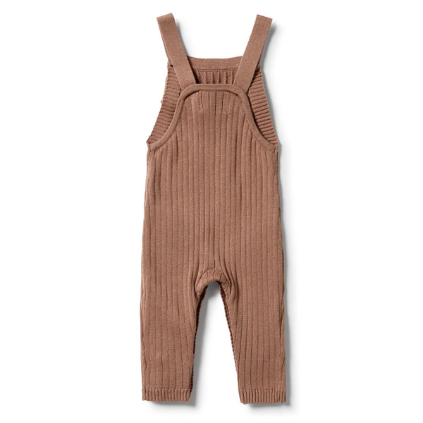 Knitted Rib Ruffle Overall