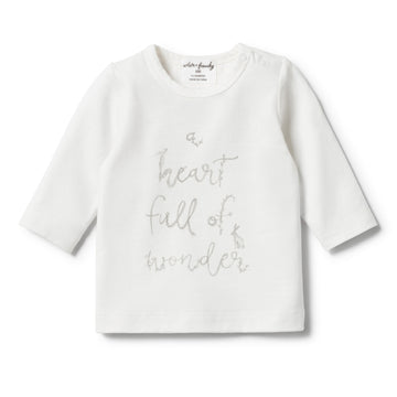 ORGANIC HEART FULL OF WONDER LONG SLEEVE TOP - Wilson and Frenchy