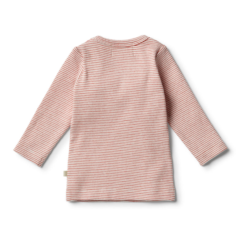 Organic Chilli Ruffle Top - Wilson and Frenchy