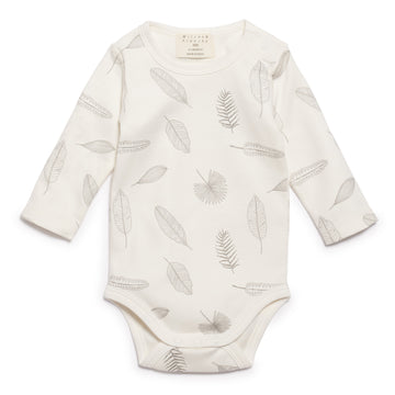 TINY LEAF LONG SLEEVE BODYSUIT-BODYSUIT-Wilson and Frenchy
