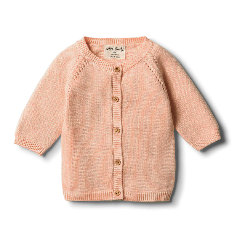 Tropical Peach Knitted Cardigan - Wilson and Frenchy