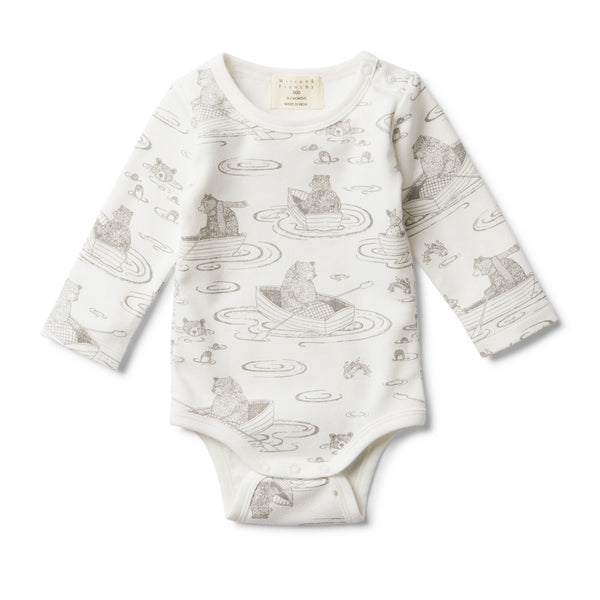 LITTLE ROW BOAT LONG SLEEVE BODYSUIT - Wilson and Frenchy