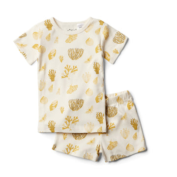 Organic Little Shell Short Sleeve Pajama Set