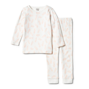 ORGANIC FLOW LONG SLEEVE PYJAMA SET