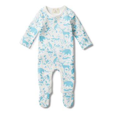 BOYS WILD WOODS GROWSUIT WITH FEET - Wilson and Frenchy