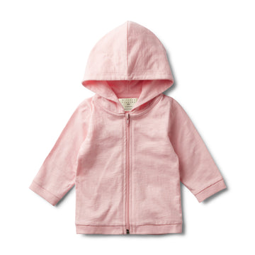 PRETTY PINK FLECK HOODED JACKET-COTTON JACKET-Wilson and Frenchy