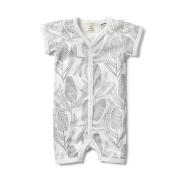 BANKSIA SHORT SLEEVE GROWSUIT-GROWSUIT-Wilson and Frenchy