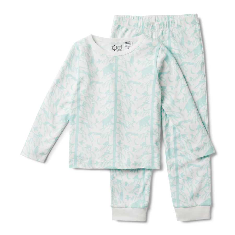 BLUE ADVENTURE AWAITS PYJAMA SET-KIDS SLEEPWEAR-Wilson and Frenchy