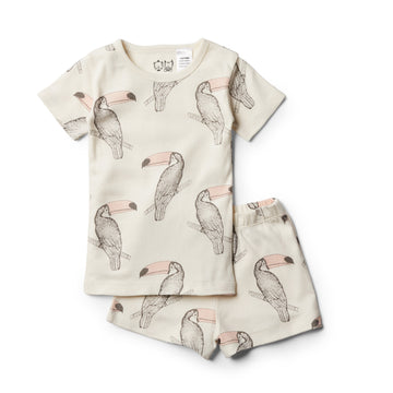 Organic Tutu Toucan Short Sleeve Pyjama Set - Wilson and Frenchy