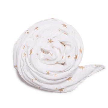 WHITE STAR BRIGHT MUSLIN WRAP - Wilson and Frenchy