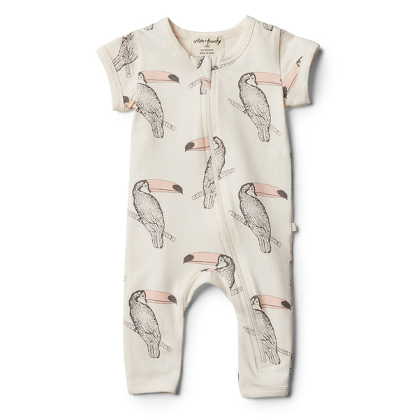 Organic Tutu Toucan Zipsuit - Wilson and Frenchy