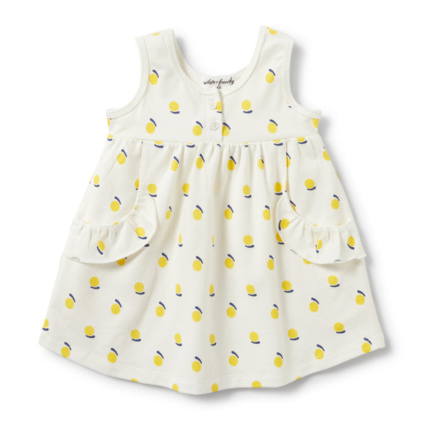 SUNSHINE RUFFLE POCKET DRESS - Wilson and Frenchy