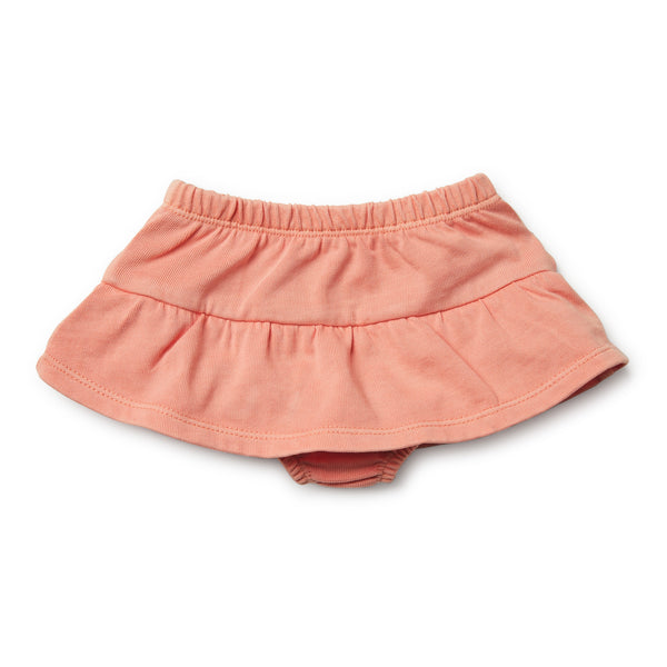 Peach Pearl Nappy Pant with Ruffle - Wilson and Frenchy