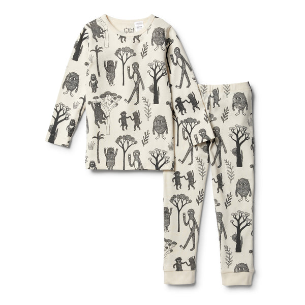 Organic Wild L/S Pyjama Set - Wilson and Frenchy