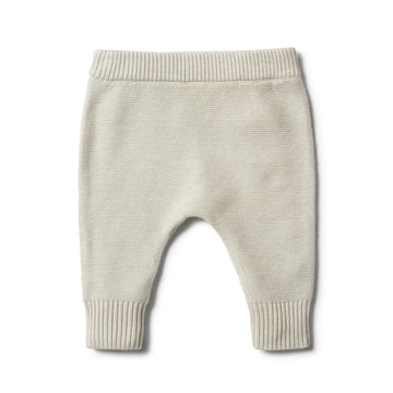 ICE GREY KNITTED LEGGING - Wilson and Frenchy