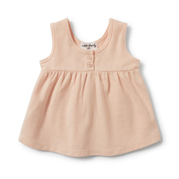 SCALLOP SHELL BUTTONED TANK-Wilson and Frenchy