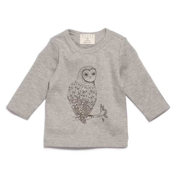 LITTLE OWL LONG SLEEVE TOP