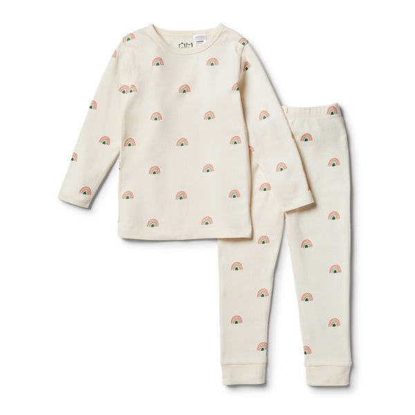 Organic Sing A Rainbow L/S Pyjama Set - Wilson and Frenchy