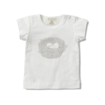 SHORT SLEEVE TEE WITH NESTLING PRINT-T-SHIRT-Wilson and Frenchy