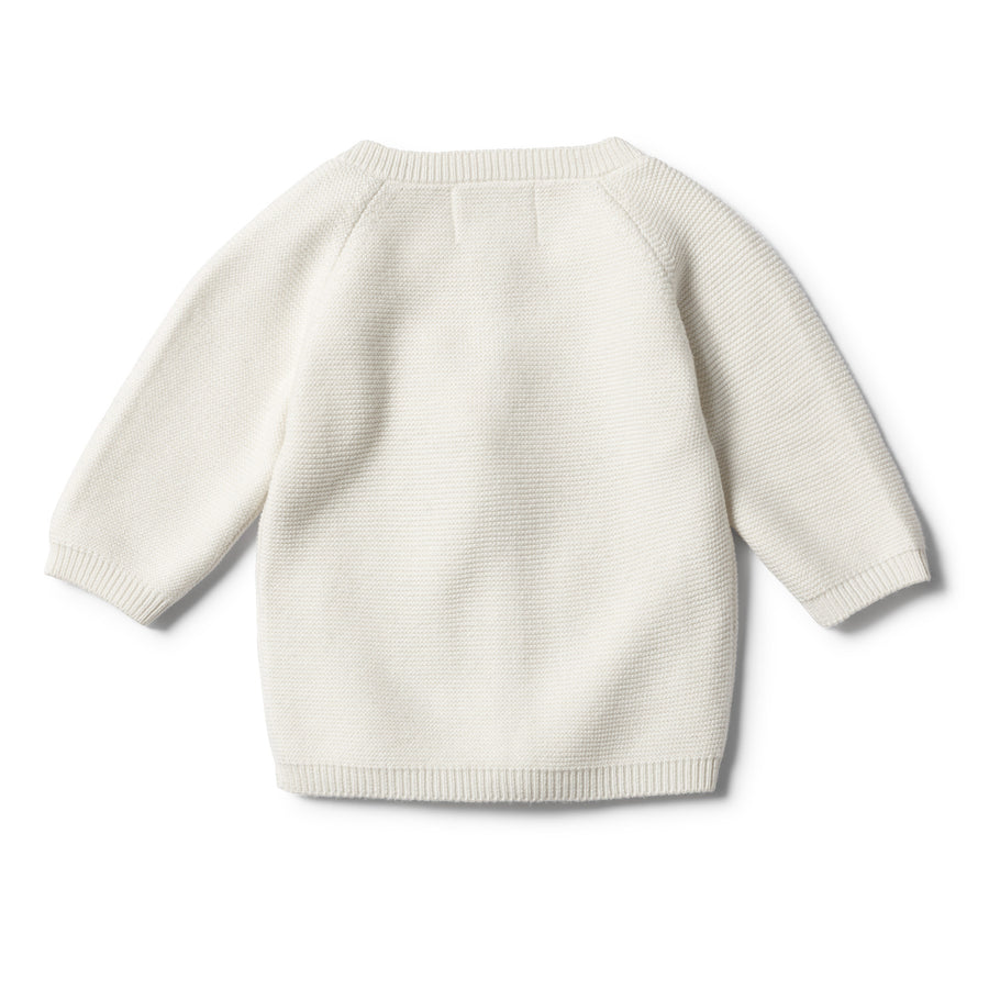 ECRU KNITTED CARDIGAN - Wilson and Frenchy