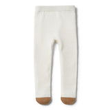 ECRU KNITTED LEGGING WITH FEET - Wilson and Frenchy