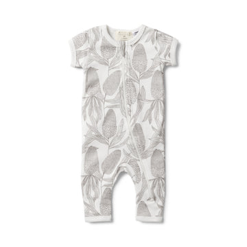 BANKSIA SHORT SLEEVE ZIPSUIT - Wilson and Frenchy