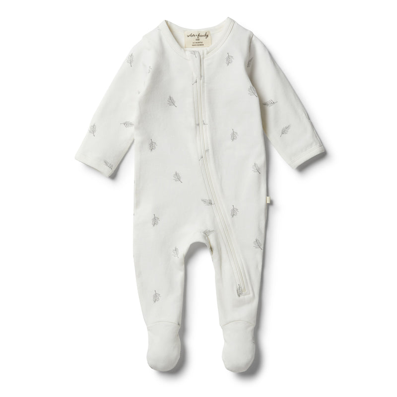 Organic Float Away Zipsuit - Wilson and Frenchy