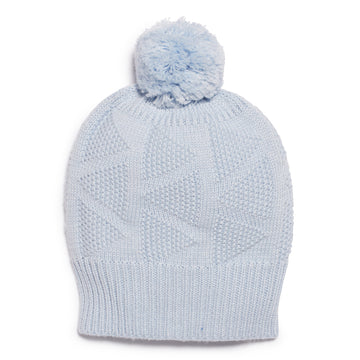 CASHMERE BLUE KNITTED HAT-KNITTED HAT-Wilson and Frenchy