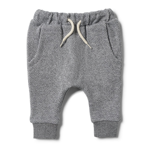 DARK GREY TERRY PANT - Wilson and Frenchy
