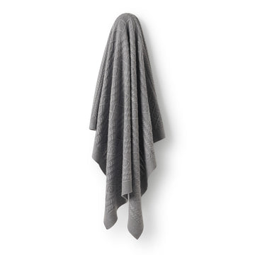 LUXE WOOL CABLE KNIT BLANKET - Wilson and Frenchy