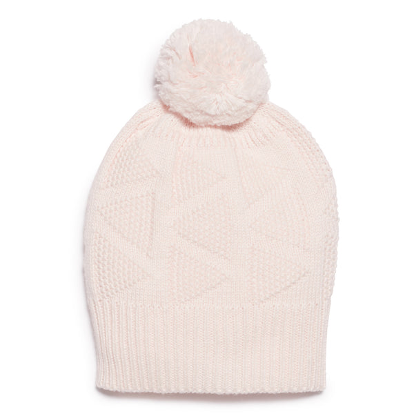 MARSHMELLOW KNITTED HAT