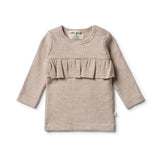 Organic Toasted Pecan Ruffle Top - Wilson and Frenchy