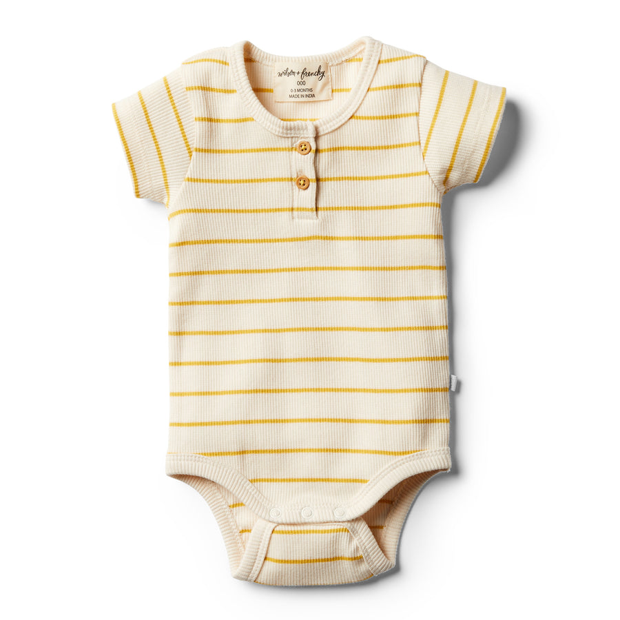 Organic Jojoba Stripe Bodysuit - Wilson and Frenchy