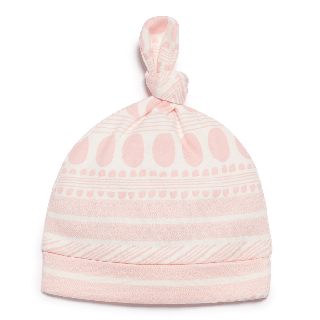 PINK MOON AZTEC KNOT HAT