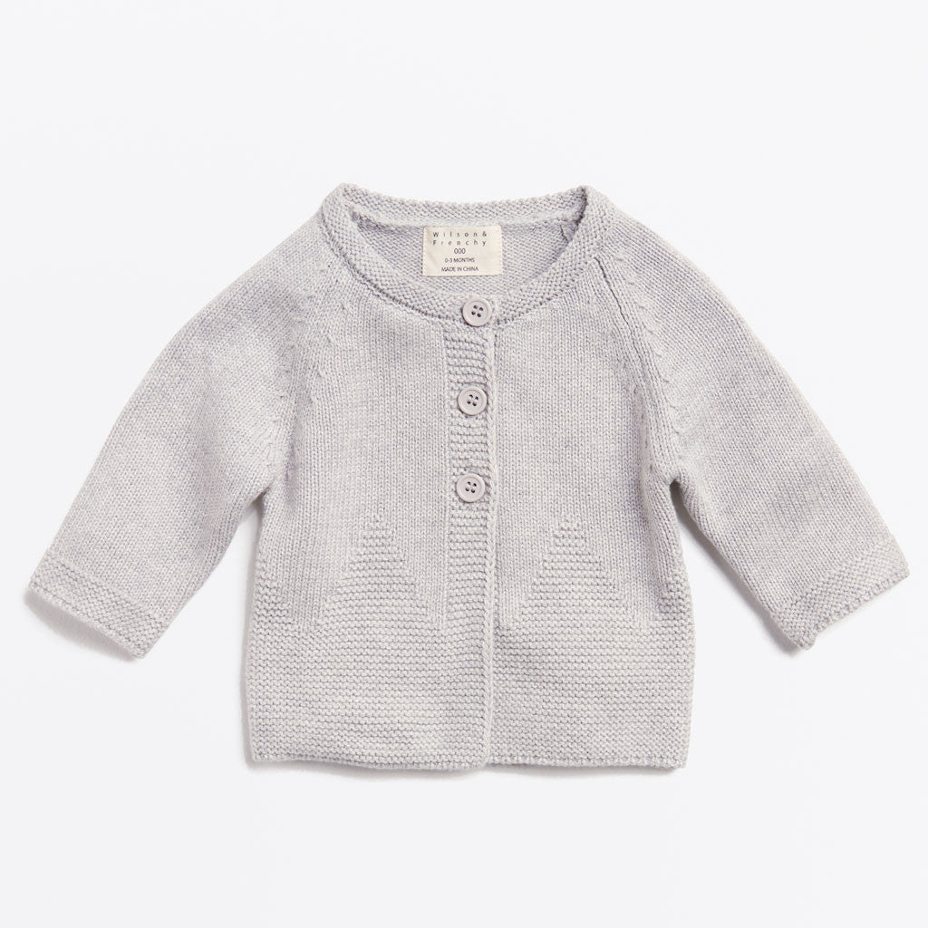 MOUSE GREY KNITTED JACKET
