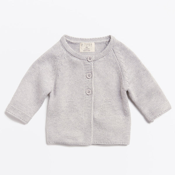 MOUSE GREY KNITTED JACKET - Wilson and Frenchy