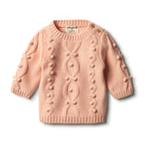 Tropical Peach Knitted Jumper with Baubles - Wilson and Frenchy