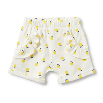 SUNSHINE RUFFLE POCKET SHORTS-SHORTS-Wilson and Frenchy