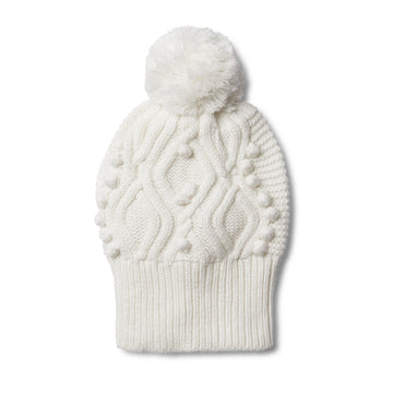 CLOUD CABLE KNITTED POM POM HAT - Wilson and Frenchy