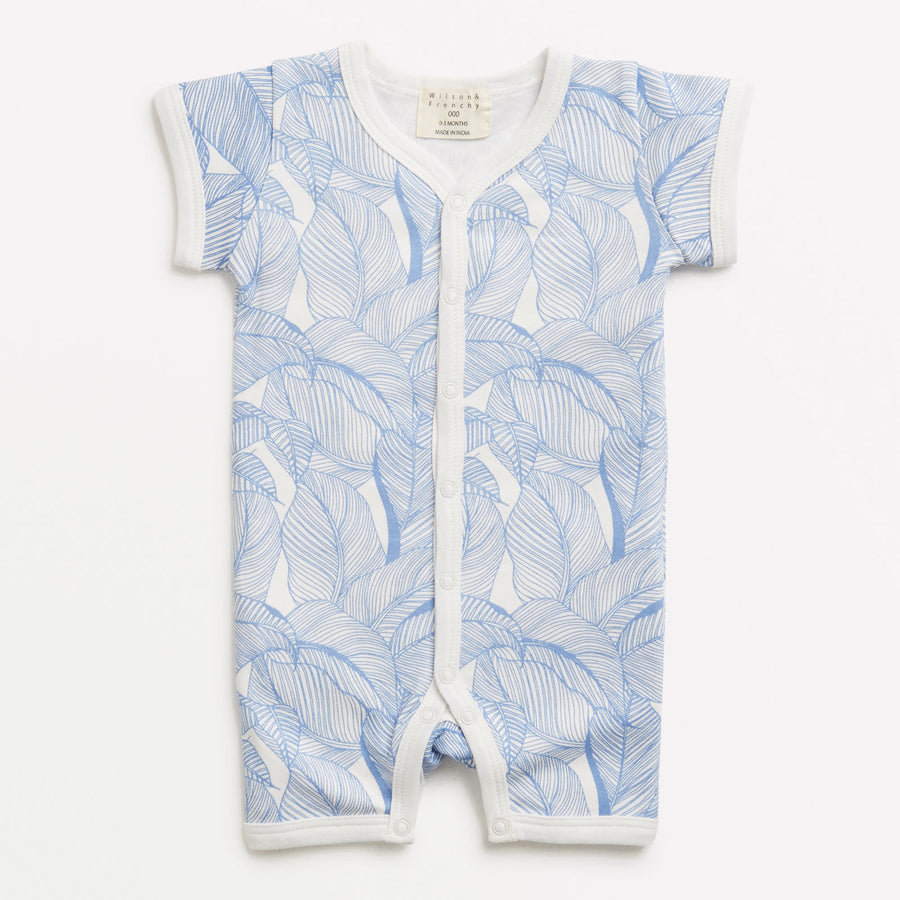 BLUE INTO THE JUNGLE SHORT GROWSUIT - Wilson and Frenchy